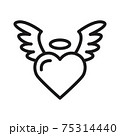angel wings, romantic valentines icon vector illustration isolated on white 75314440