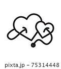 heart with stethoscope icon vector illustration isolated on white 75314448