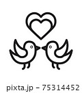 birds in love icon vector illustration isolated on white background 75314452