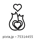 cat couple with a heart icon vector illustration isolated on white background 75314455
