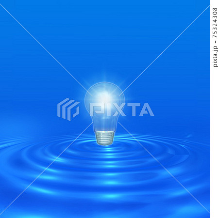 電球が発光する 75324308