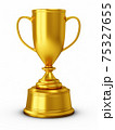 3D Rendering Golden Award Trophy Cup isolated on white background 75327655