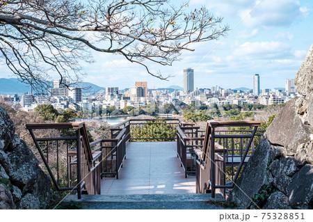 福岡城跡から大濠公園方面 75328851
