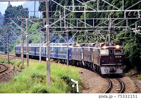 1997年 旧信越本線を行くEF6319他三重連の12系団臨 75332151