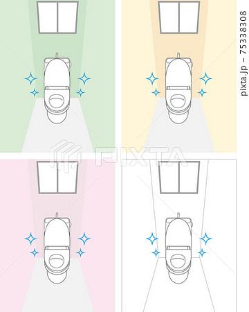 トイレ セット 壁色分け 75338308
