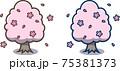 春の桜の木 75381373