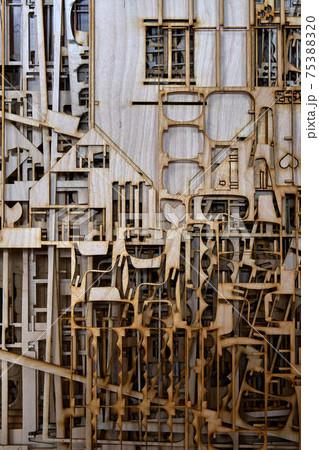 Laser cut plywood dollhouse. Laser cutting waste 75388320