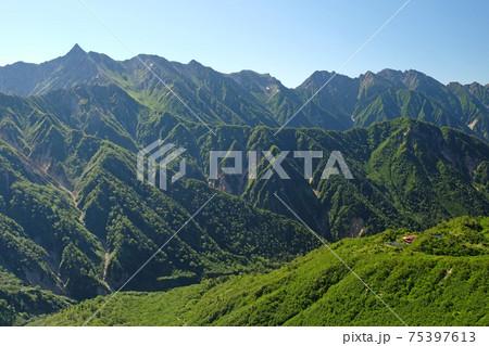 北アルプス 槍ヶ岳や穂高を望む絶景スポット 75397613