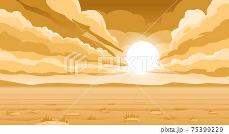 Sunrise over the desert 75399229