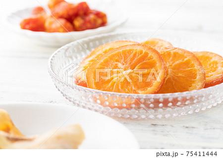 いろいろなドライフルーツのイメージ写真 75411444