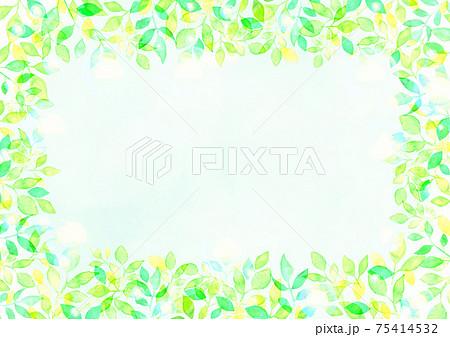 水彩で描いた新緑の背景イラスト 75414532
