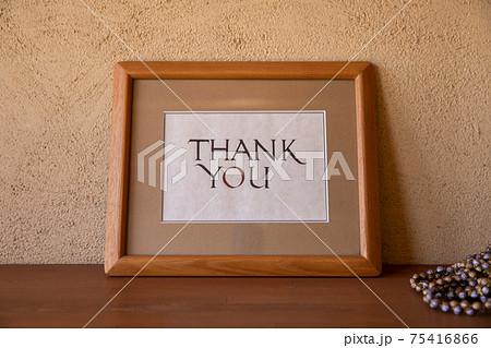 ありがとうと書いた写真たて Thank you 75416866
