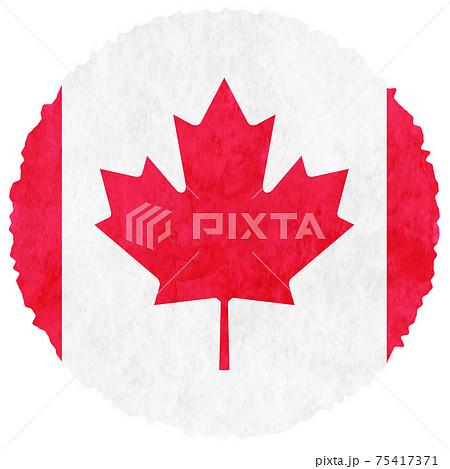 カナダ  国旗 水彩 アイコン 75417371