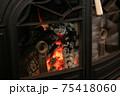 薪ストーブ 暖炉 綺麗な炎 75418060
