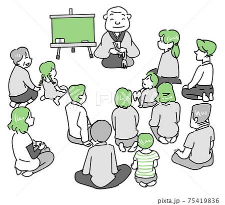 法話-住職の座談会を聞く人達 75419836