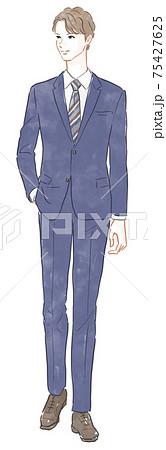 スーツの男性 75427625