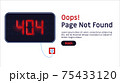 404 error. Page not found website vector template. 75433120