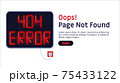 404 error. Page not found website vector template. 75433122