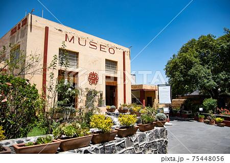 メキシコ チョルーラにあるチョルーラ博物館の入り口 75448056