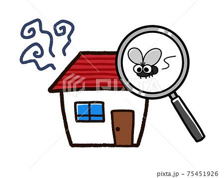 ハエが発生した家 不衛生な環境 75451926