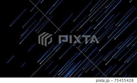 流れ星 流星 パーティクル  アブストラクト 75455428