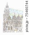 世界遺産の街並み・オーストリア・シュテファン寺院 75460744