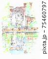 世界遺産の街並み・イタリア・ビラエステ 75460797