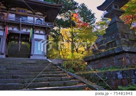 《鳥取県》大山町散策、秋の大山隠岐国立公園の風景 75481943