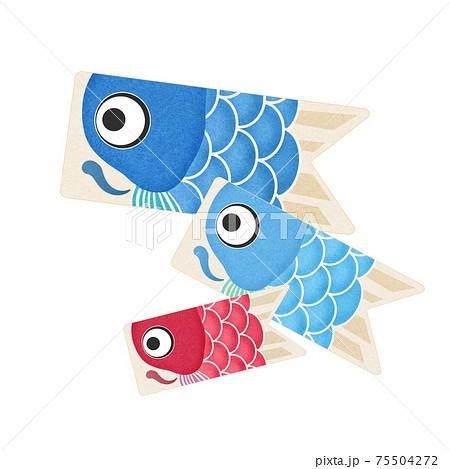 かわいい鯉のぼりの素材 75504272