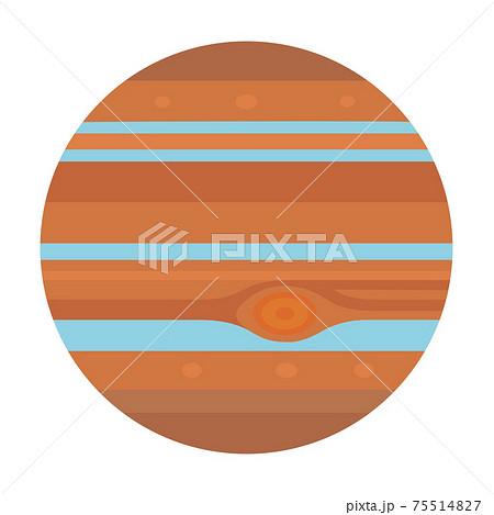 木星のイラスト 太陽系惑星 75514827