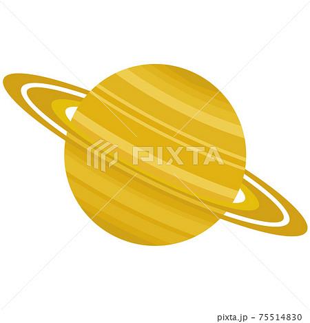 土星のイラスト 太陽系惑星 75514830