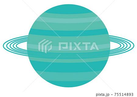 天王星のイラスト 太陽系惑星 75514893