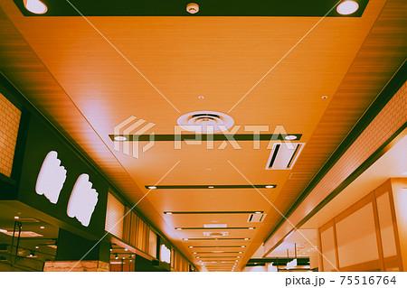 新しいショッピングモールの美しい天井 75516764