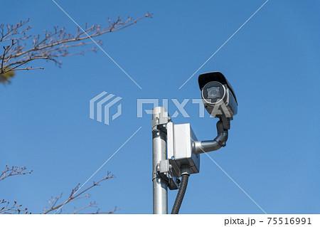【オリンピック開会前の新国立競技場に配備された防犯カメラ】 75516991
