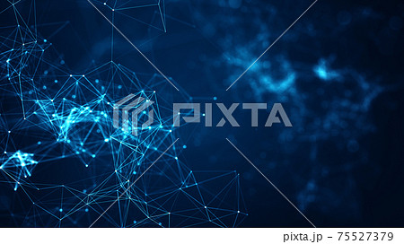 Technology network concept. 75527379