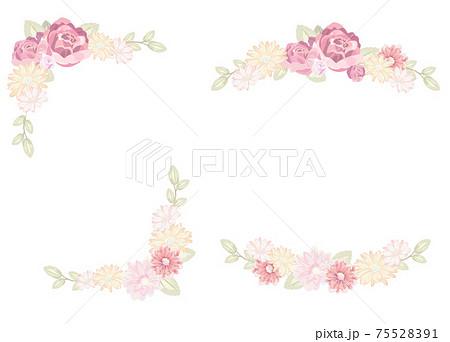 春色花フレーム メッセージカード 75528391