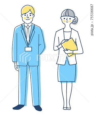 ビジネスパーソン 男女 全身ビジネスパーソン 男女 全身 75536687