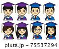 卒業プロフィールアイコンセット 75537294