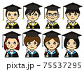 卒業プロフィールアイコンセット 75537295