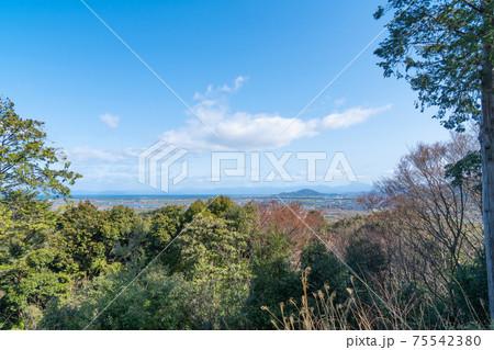 安土山の山頂から見た景色(安土城跡) 75542380