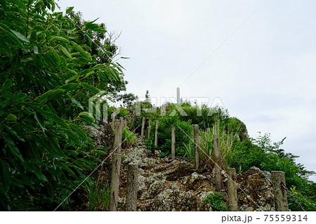 鎖場から見上げる正観音像/岩屋観音(愛知県豊橋市) 75559314