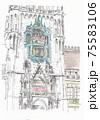 ヨーロッパの街並み・ドイツ・ミュンヘンの時計台 75583106