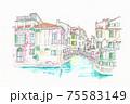 世界遺産の街並み・イタリア・ベニス・ 75583149