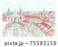 世界遺産の街並み・チェコ・プラハ旧市街 75583159