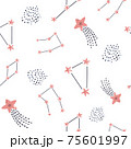 Seamless pattern with different constellations and stars 75601997