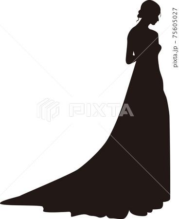 ウェディングドレス シルエット 75605027
