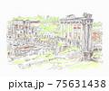 世界遺産の街並み・ローマ・フォロロマーノ 75631438