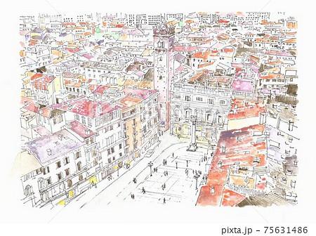 世界遺産の街並み・イタリア・ヴィゼンチア 75631486