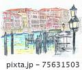 世界遺産の街並み・イタリア・ベニス・グランカナル 75631503