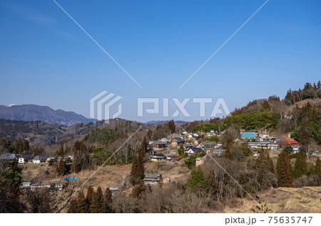 信州新町 上の平展望台からの風景 75635747